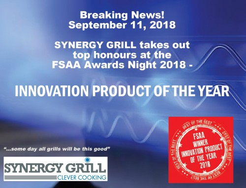 SYNERGY GRILL takes out the PRODUCT INNOVATION OF THE YEAR AWARD 2018!